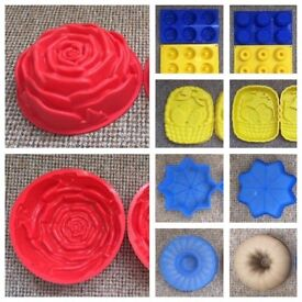 10 Mix Shaped Silicone Molds for Baking