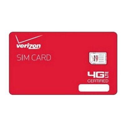 Verizon Wireless 4G LTE NANO Sim Card 4FF | Genuine OEM Prepaid or Contract