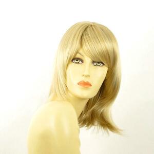 perruque femme mi longue blond dor m ch blond tr s clair odelia 24bt613 ebay. Black Bedroom Furniture Sets. Home Design Ideas