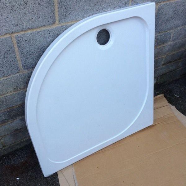 Lightweight 900 x 900mm slimline quadrant shower tray new