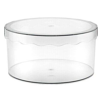 """12"""" (Medium) InterDesign Clarity Hat Box Translucent"""