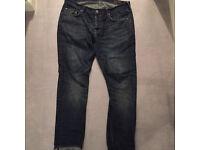 All saints pistol fit jeans 32 waist mens