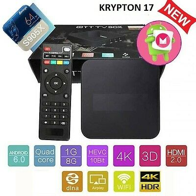 Pro S905X Smart TV BOX Android 6 Marshmallow Quad Core 8GB Box 4K KRYPTON 17