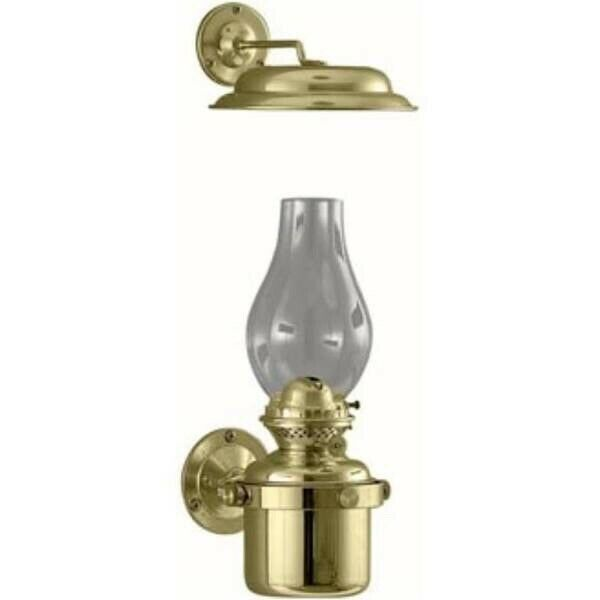 DHR Brass Gimbal Oil Lamp with Smoke Bell Lantern