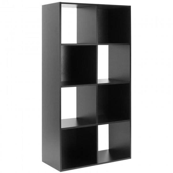 Home Phoenix 8 Cube Storage Unit Black With 3 Removable Storage Bo