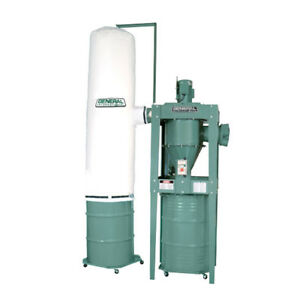 Dust collector USED: General International #10-810 3hp 2-stage