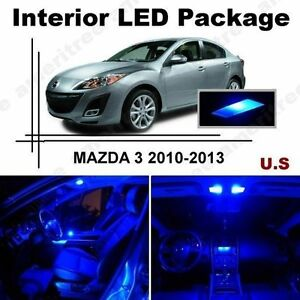 Blue Led Lights Interior Package Kit For Mazda 3 2010 13 6 Pieces