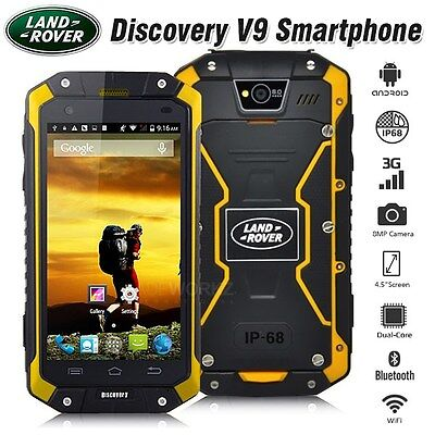 New Unlocked LAND Bum Recognition V9 Yellow IP68 3G Hardy Smartphone Room Phone