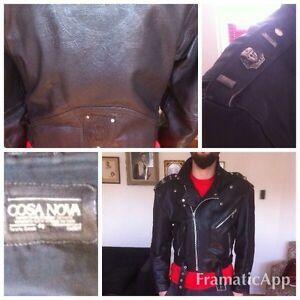 Genuine Leather motorcycle jacket