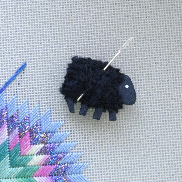 Wooly Sheep Needle and Pin Magnet Minders - BLACK ONLY
