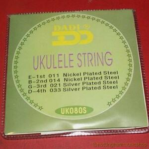 STEEL-UKULELE-STRINGS-SOPRANO-UKELELE-BANJO-GUITAR-QUALITY-NEW-SET-OF-4-STRING