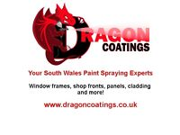 DRAGON COATINGS On and off-site paint spraying! Cladding, panels, PVC and more!