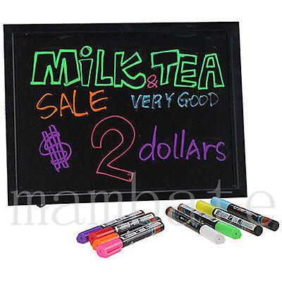 "Flashing Illuminated Erasable Neon LED Message Writing Board Menu Sign 16""x12"""