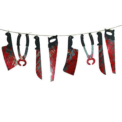 Halloween Party Haunted House Room Bloody Hanging Garland Pennant Banner Decor](Halloween Pennant Banner)