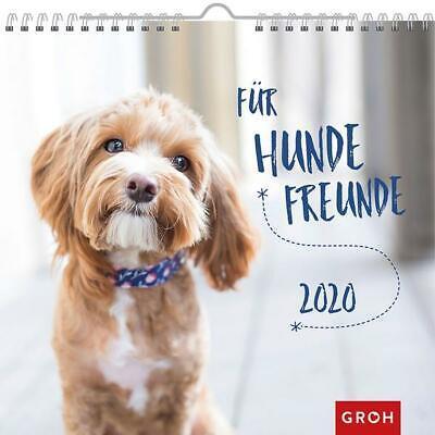 Für Hundefreunde 2020: Dekorativer Wandkalender mit Monatskalendarium (Hund Kalender)