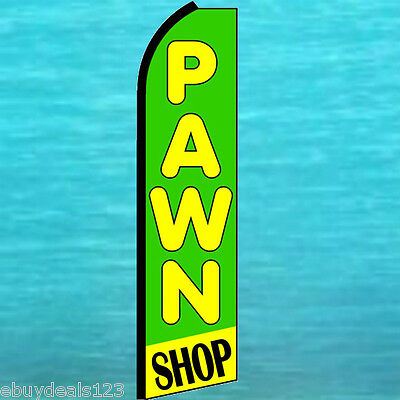 Pawn Shop Flutter Feather Flag Swooper Tall Advertising Sign Bow Banner 25-1433