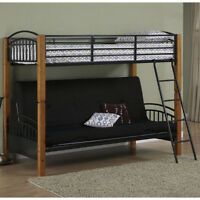 Sofa couch/bed with loft bed - $195 or best offer