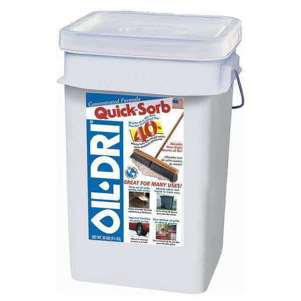 OIL-DRI I05000G-G60 Maintenance Absorbent,20 lb.,Pail