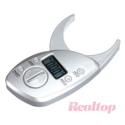 Digital Body Fat Caliper Tester Analyzer with Measure Charts Fitness Keep Health