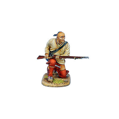 AWI100 Woodland Indian Warrior Kneeling with Musket by First - Woodland Warrior