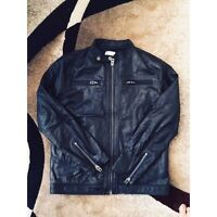 Men's Diesel Brand Motorcycle Leather Jacket