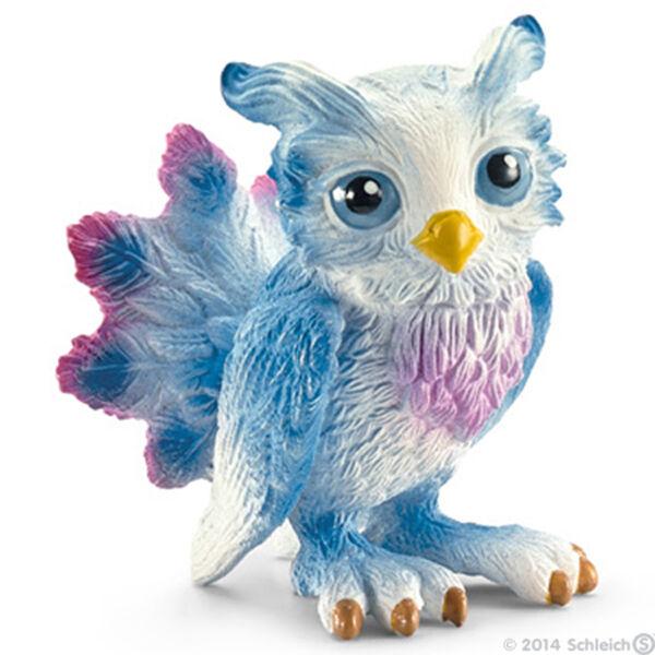 NEW SCHLEICH 70492 Zhuhu Owl - Ice Fairies Fairy Elf Fantasy - RETIRED