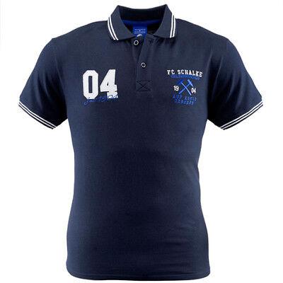 FC Schalke 04 Poloshirt Polo 04 marine Shirt Auf Kohle geboren ()