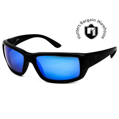 Costa Del Mar TF01OBMGLP, Polarized Fantail Blackout Blue Mirror 580G Sunglasses