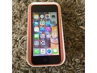 Pink iPhone 5c 8gb open to all networks