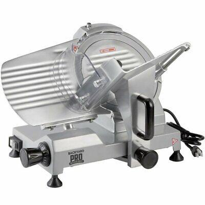 Backyard Pro Sl110e Butcher Series 10 Manual Gravity Feed Meat Slicer - 120v