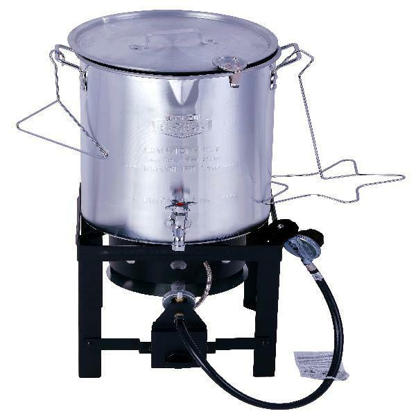 Durable Outdoor Propane Grill 30QT Turkey Fryer Stainless Ta