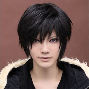 Anime-Handsome-Boys-Short-Wig-New-Vogue-Sexy-Mens-Male-Hair-Cosplay-Wigs-Black