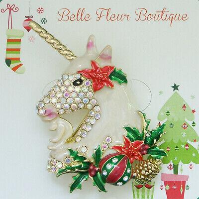 Kirks Folly Holiday Magic Unicorn Christmas Pin Pendant & Holiday Treats -