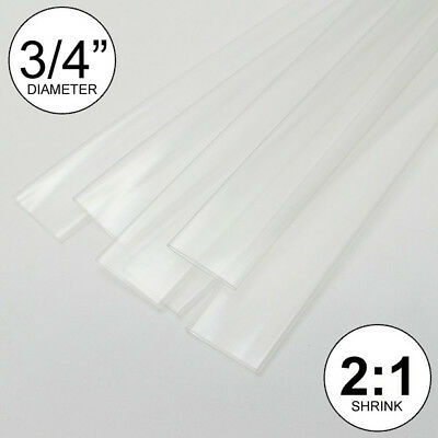 34 Id Clear Heat Shrink Tube 21 Ratio 0.75 5x24 10 Ft Inchfeetto 20mm