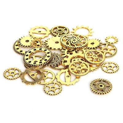 Zahnrad Mix Zahnräder Schmuck Anhänger Steampunk Gothic Basteln Kette Antik Gold