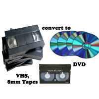 VHS, 8mm to DVD convering
