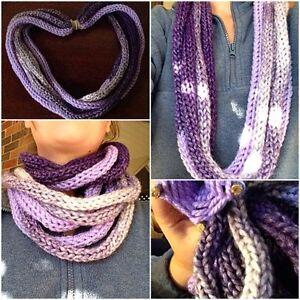 Hand Knit Infinity Scarf London Ontario image 2