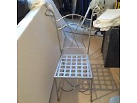 Solid steel high back chairs (set of 6)