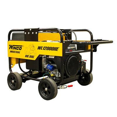Winco Wl12000he 10.8kw 120240v 1ph 60amp Portable Generator Battery Wheel Kit