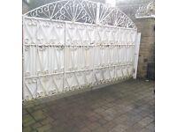 Garden gates with heavy duty posts