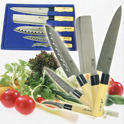 GOLDSUN 5pcs Knife set Kitchen Chef Knives Sashimi Fruit Bar Meat fish fruit new