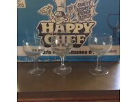 45 catering wine glasses