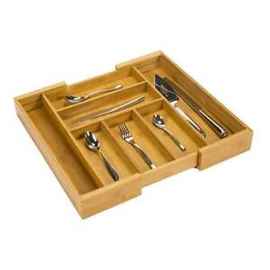 Bamboo Expandable Cutlery Tray Divider Organiser BN in Box! Sans Souci Rockdale Area Preview