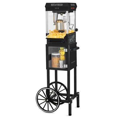Vintage Retro Look Popcorn Machine Cart Large 2.5 Oz Stainless Steel Kettle