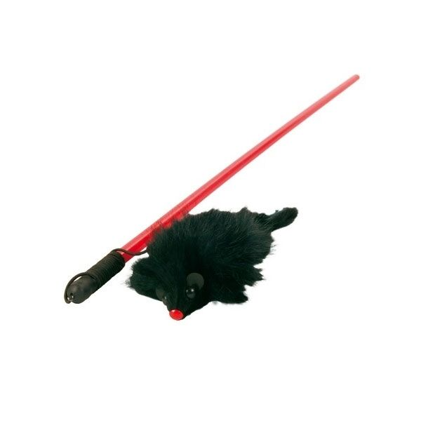 Trixie Kitty-Dangler Spielangel mit Maus - 50 cm