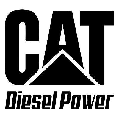 Cat Diesel Vinyl Decal Window or Bumper Sticker Caterpillar