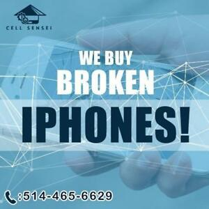 I buy ALL IPHONES! Broken is okay.