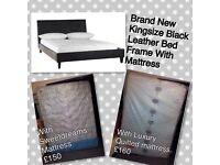 New Kingsize black bed frame
