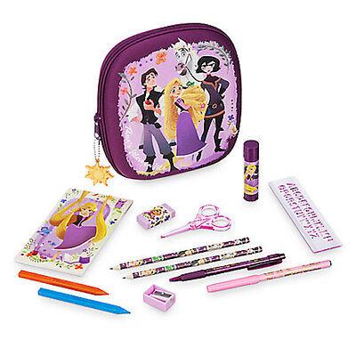 NWT Disney store Rapunzel Zip up stationary Kit art case School Supplies Tangled](School Store Supplies)