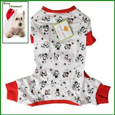 Ethical Fashion Pet Lookin Good Snowmen Long John Style Christmas Pajamas XS S M Ethical Pet Fashion